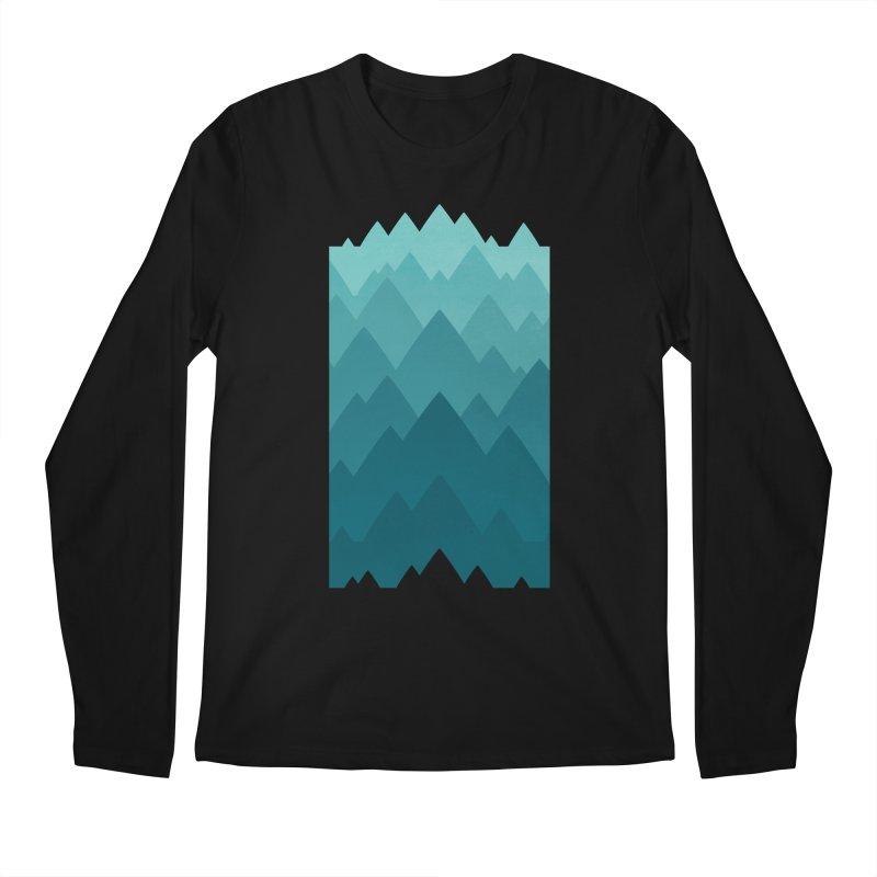 Mountain Vista: Green Men's Regular Longsleeve T-Shirt by Waynem