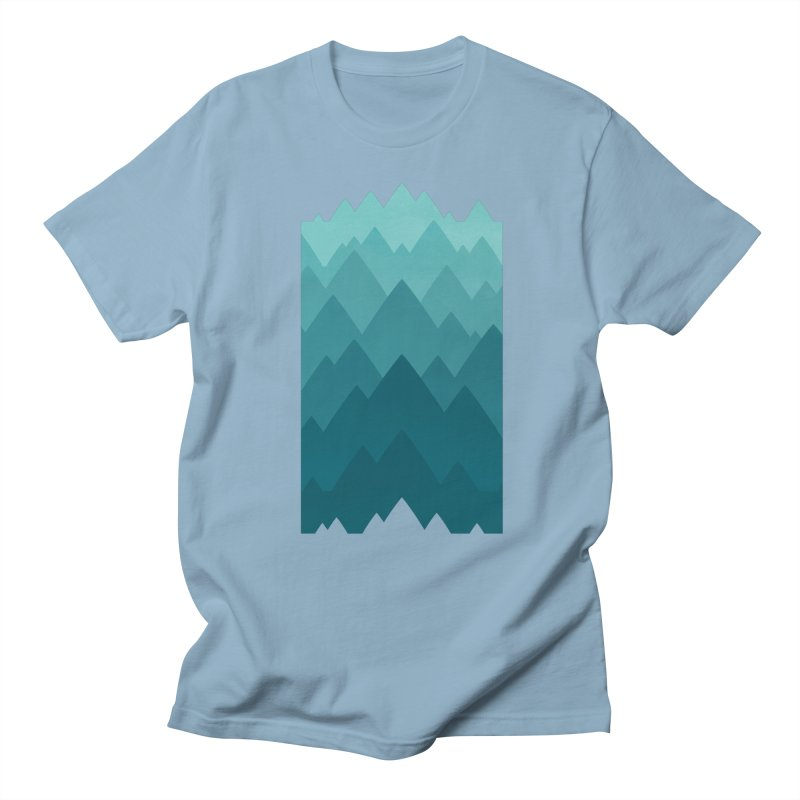 Mountain Vista: Green Women's Regular Unisex T-Shirt by Waynem