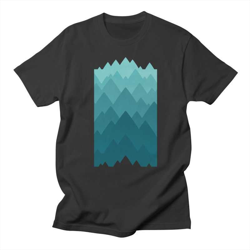 Mountain Vista: Green Men's Regular T-Shirt by Waynem