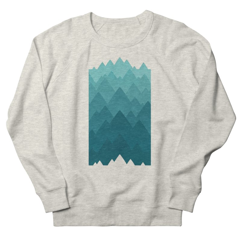 Mountain Vista: Green Women's French Terry Sweatshirt by Waynem