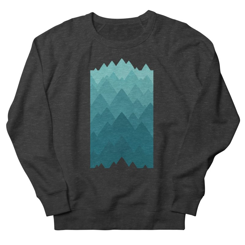 Mountain Vista: Green Men's French Terry Sweatshirt by Waynem