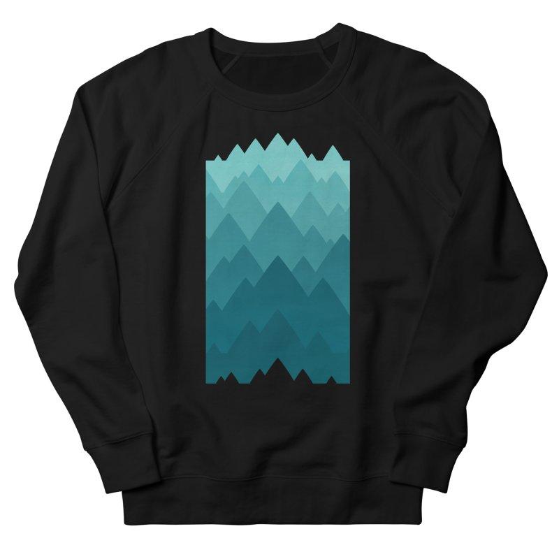 Mountain Vista: Green Men's French Terry Sweatshirt by Waynem