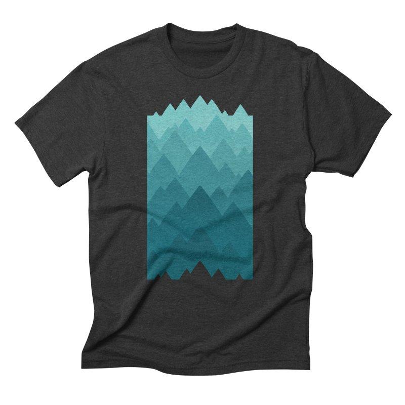 Mountain Vista: Green Men's Triblend T-Shirt by Waynem