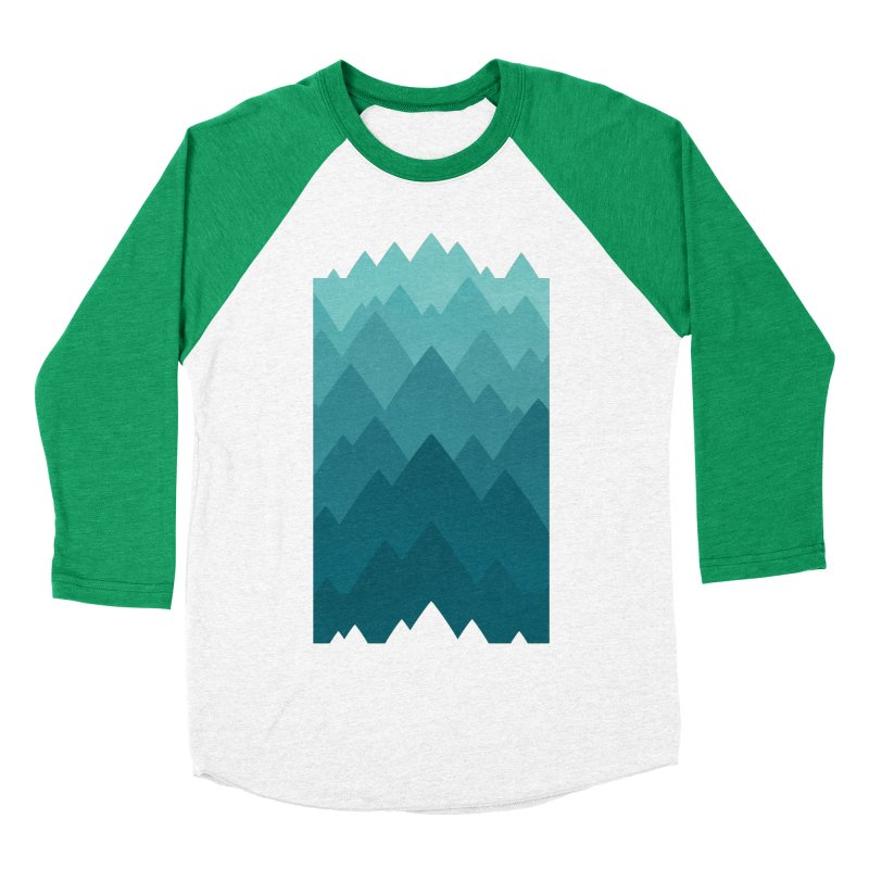 Mountain Vista: Green Women's Baseball Triblend Longsleeve T-Shirt by Waynem