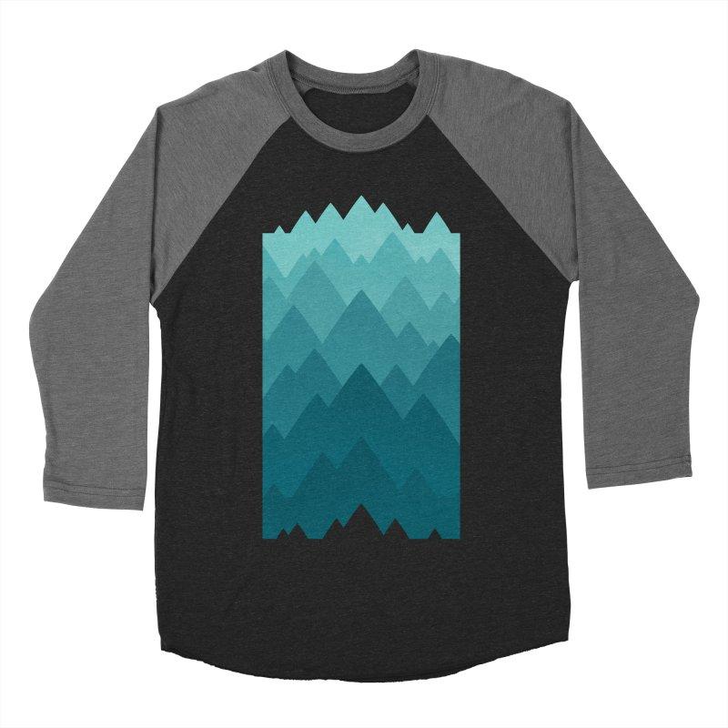 Mountain Vista: Green Women's Baseball Triblend Longsleeve T-Shirt by Waynem