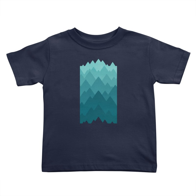 Mountain Vista: Green Kids Toddler T-Shirt by Waynem