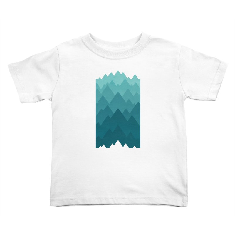 Mountain Vista: Green Kids Toddler T-Shirt by Waynem