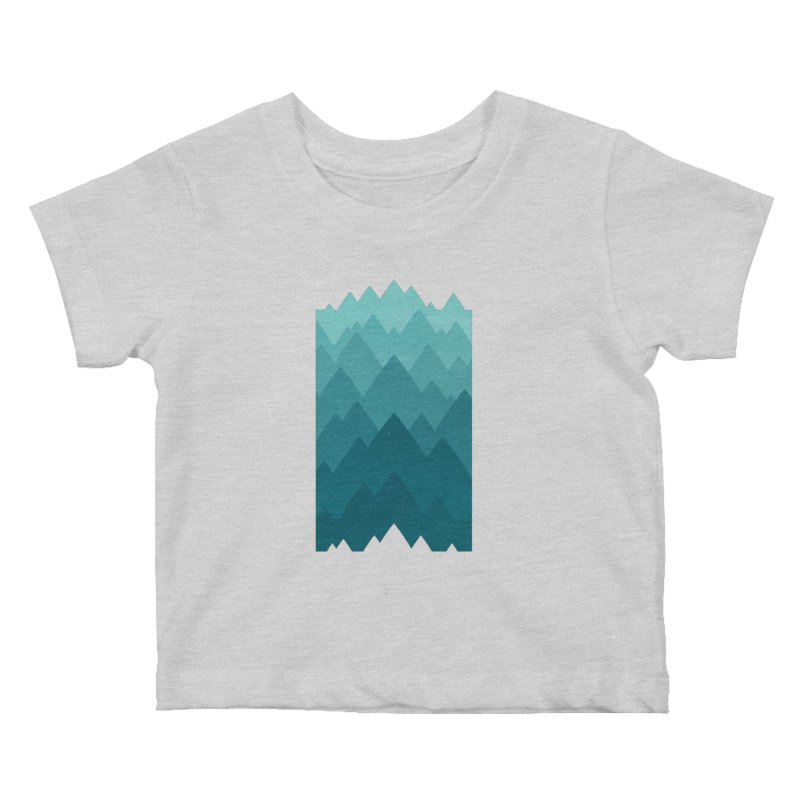 Mountain Vista: Green Kids Baby T-Shirt by Waynem
