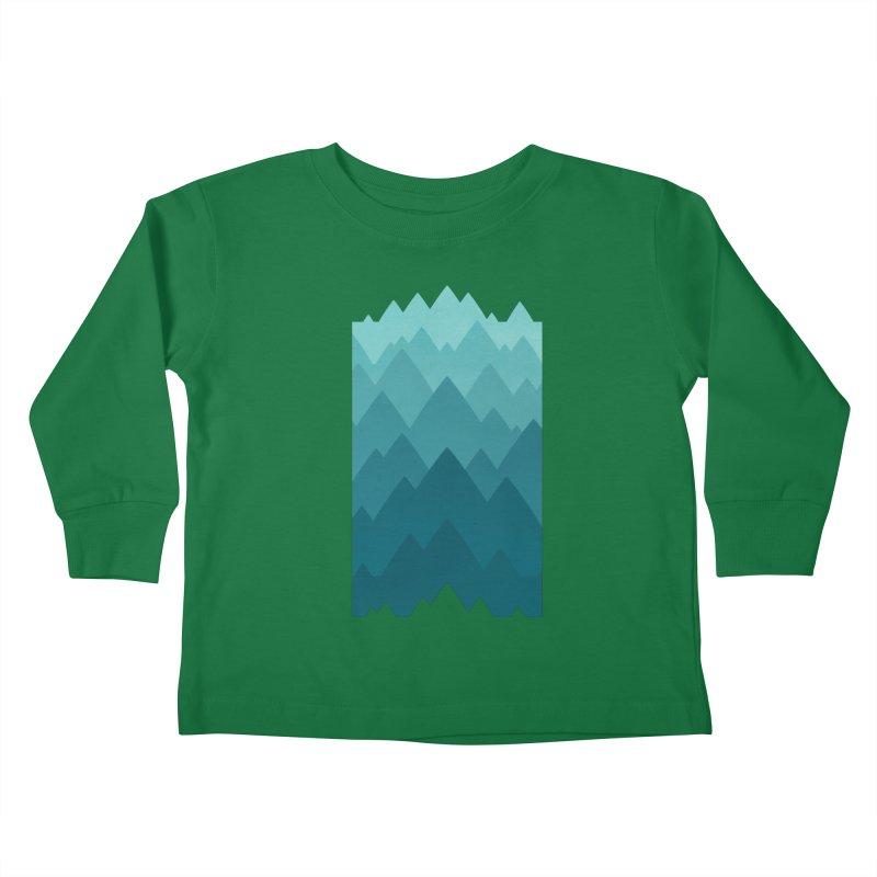Mountain Vista: Green Kids Toddler Longsleeve T-Shirt by Waynem