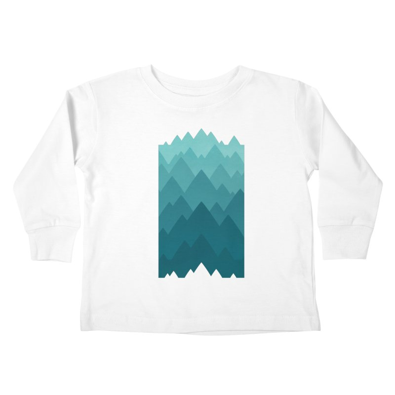 Mountain Vista: Green Kids Toddler Longsleeve T-Shirt by Waynem