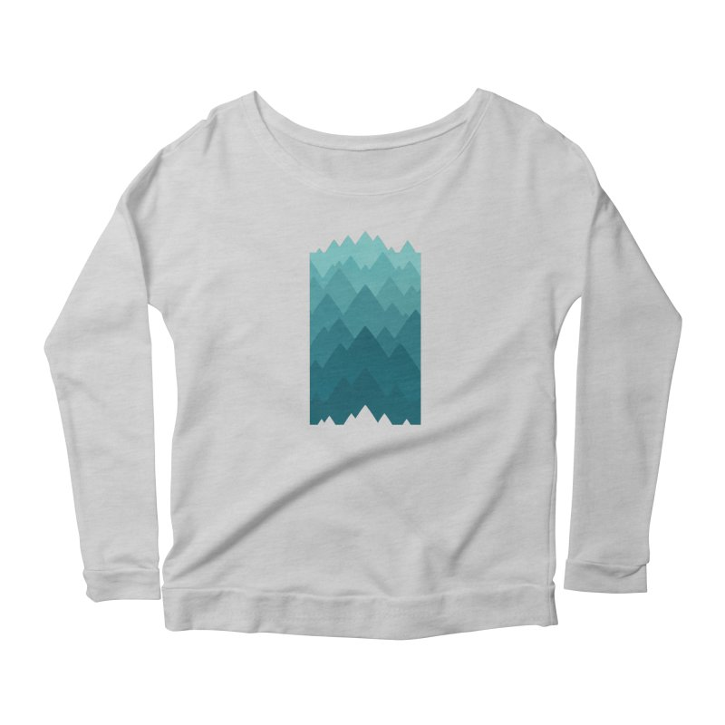 Mountain Vista: Green Women's Scoop Neck Longsleeve T-Shirt by Waynem