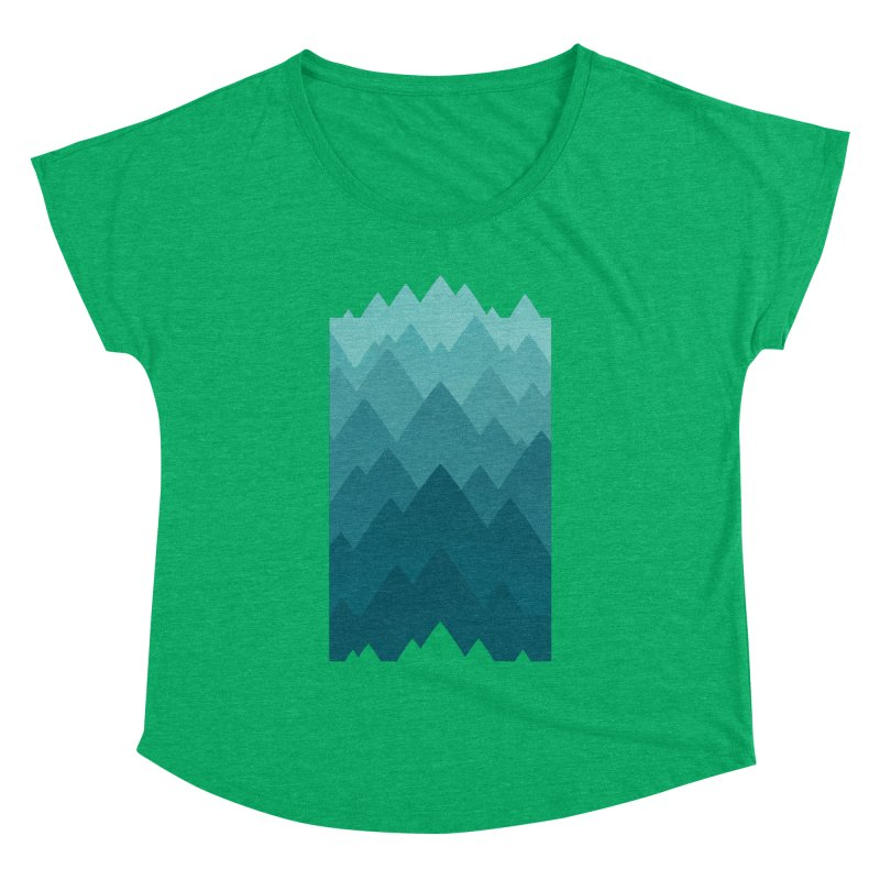 Mountain Vista: Green Women's Dolman Scoop Neck by Waynem