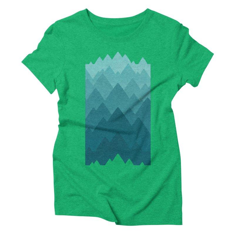 Mountain Vista: Green Women's Triblend T-Shirt by Waynem