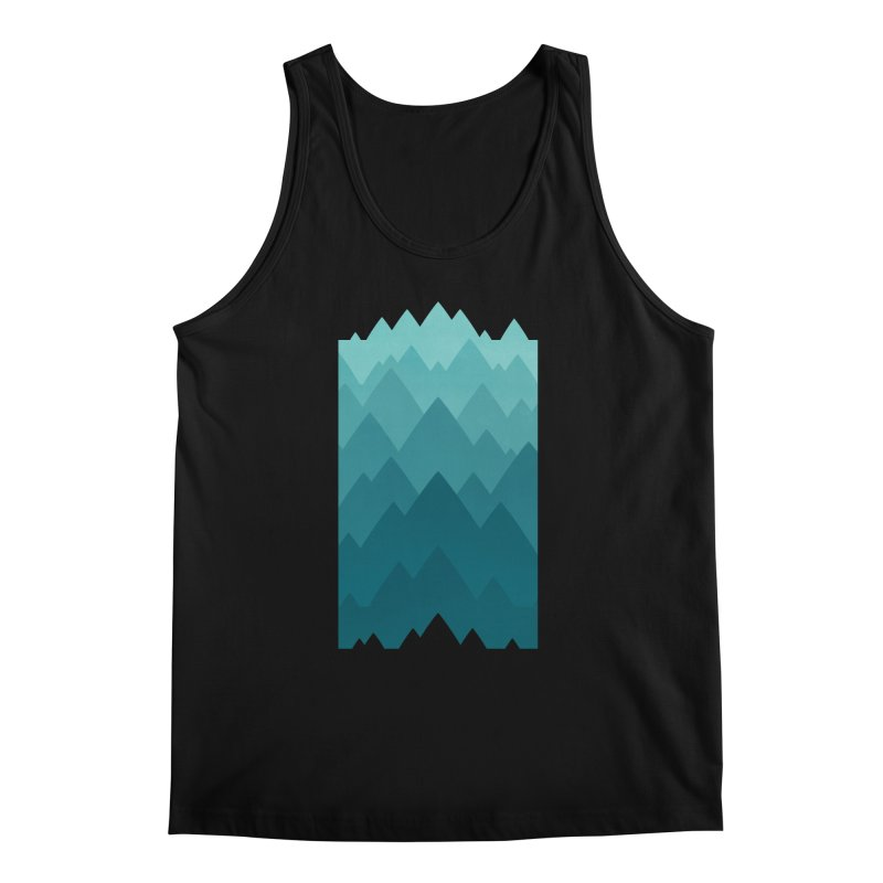 Mountain Vista: Green Men's Regular Tank by Waynem