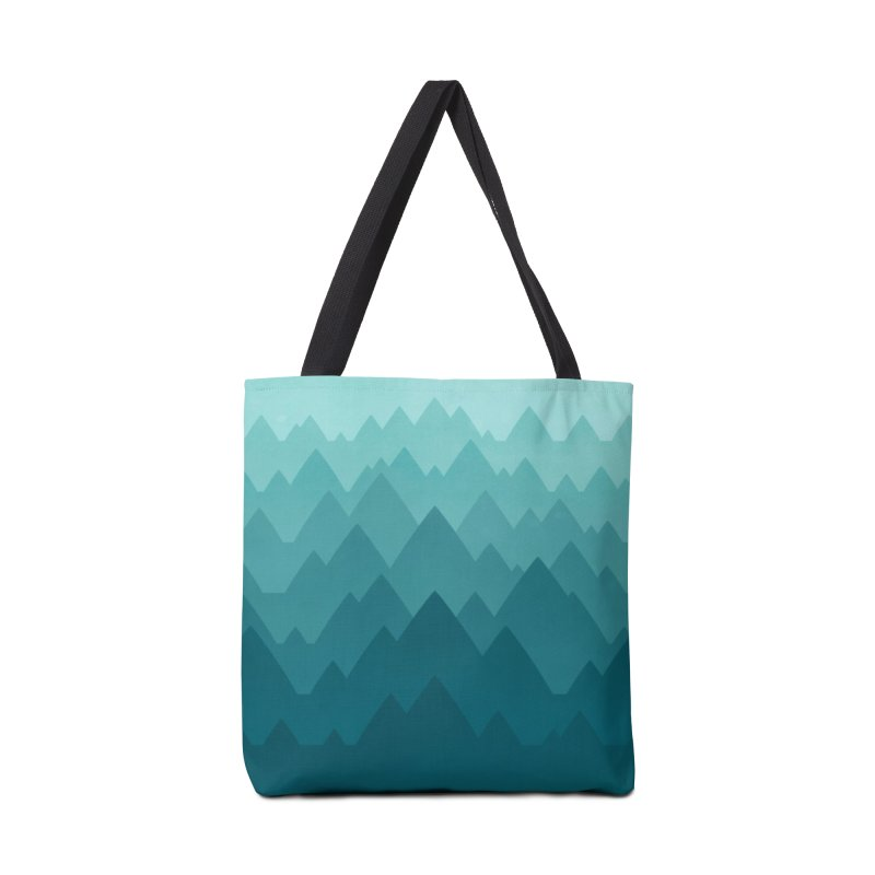 Mountain Vista: Green Accessories Bag by Waynem