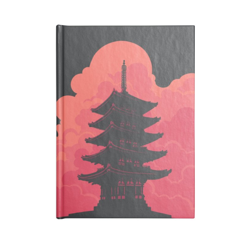 Pagoda Skyline Accessories Notebook by Waynem