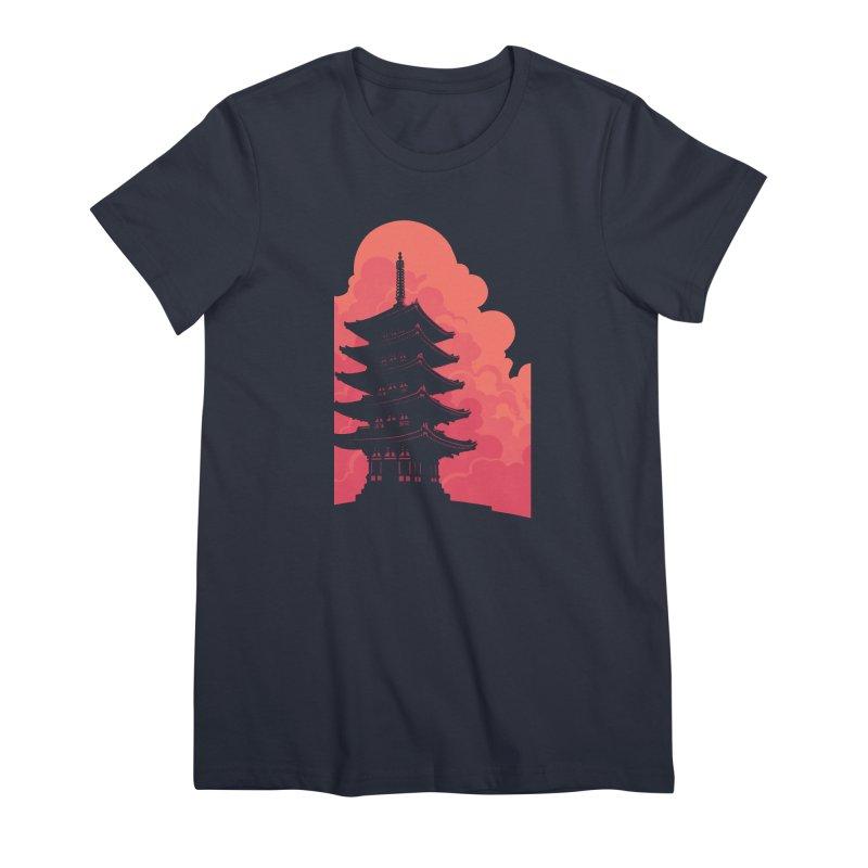 Pagoda Skyline Women's Premium T-Shirt by Waynem