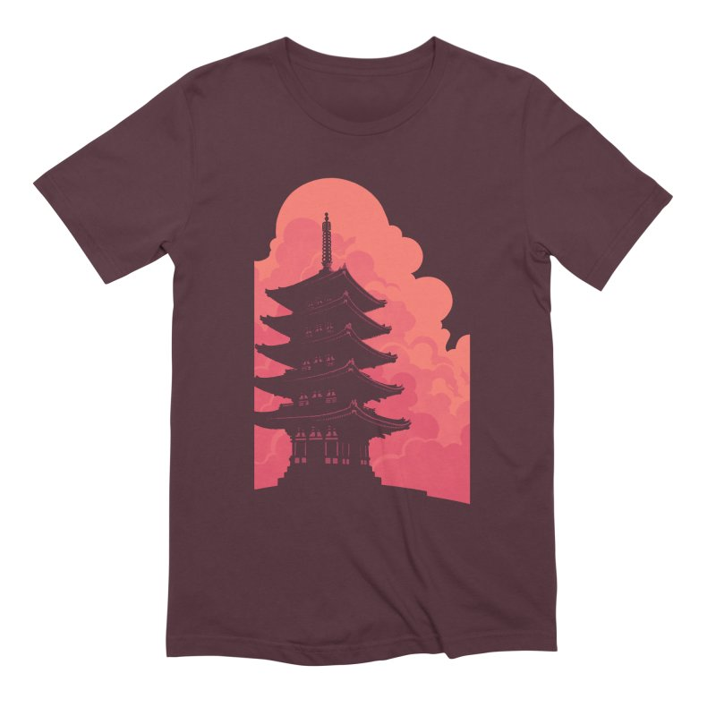 Pagoda Skyline Men's Extra Soft T-Shirt by Waynem