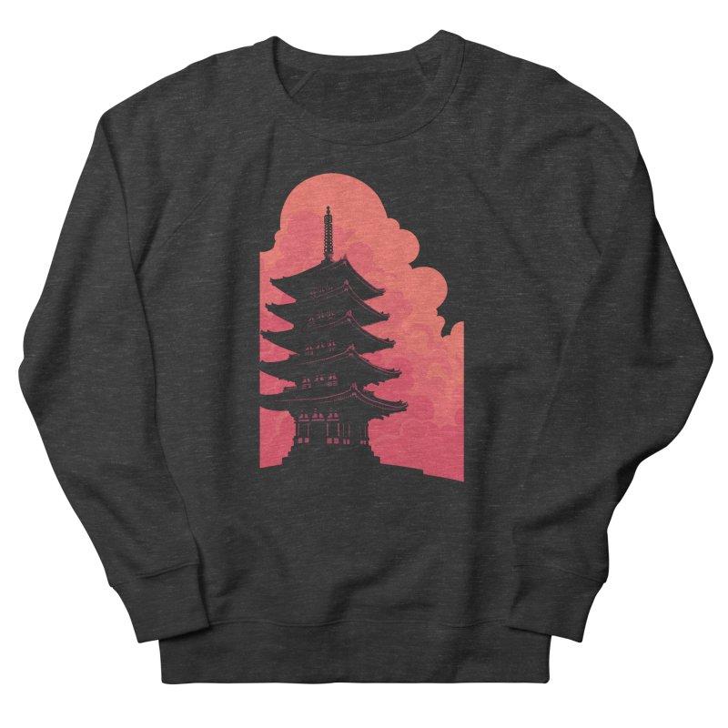 Pagoda Skyline Men's French Terry Sweatshirt by Waynem