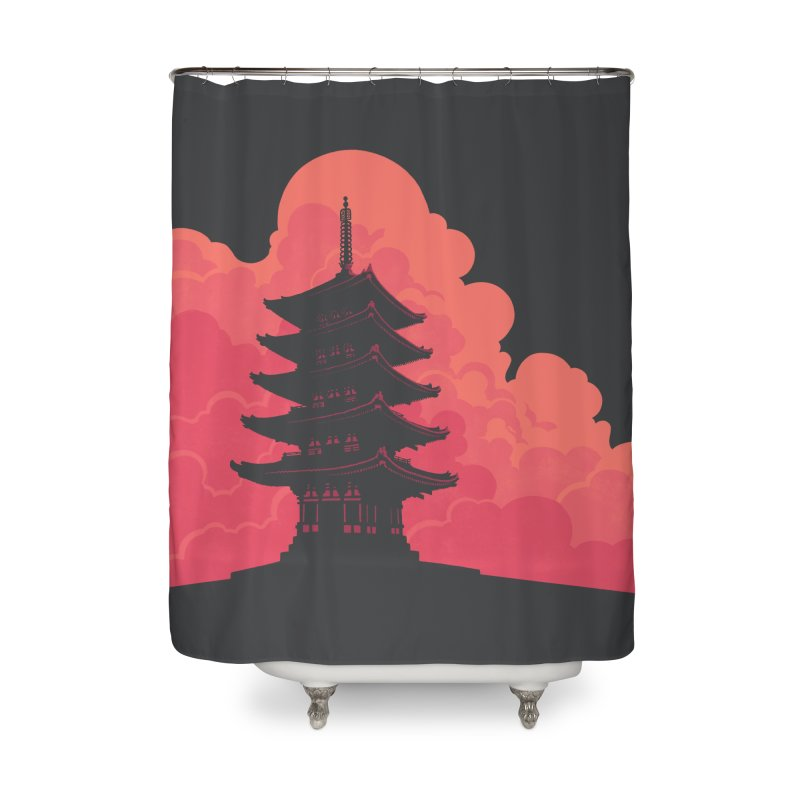 Pagoda Skyline Home Shower Curtain by Waynem