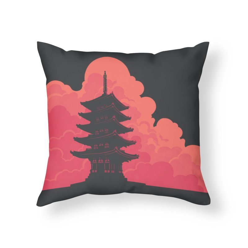 Pagoda Skyline Home Throw Pillow by Waynem