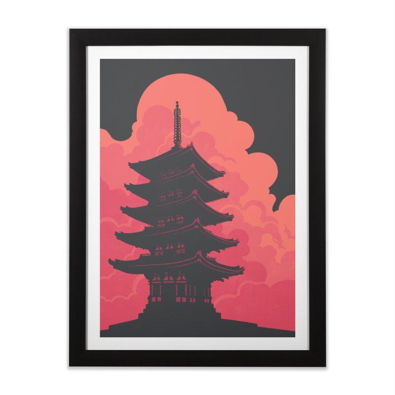 Pagoda Skyline Home Framed Fine Art Print by Waynem