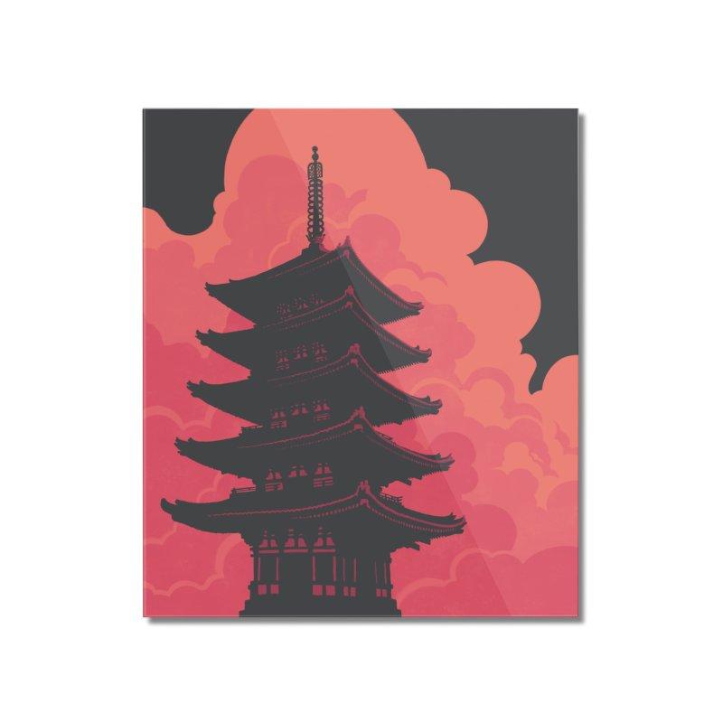 Pagoda Skyline Home Mounted Acrylic Print by Waynem