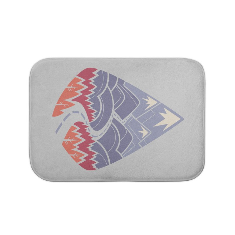 The Road Goes Ever On: Autumn Home Bath Mat by Waynem