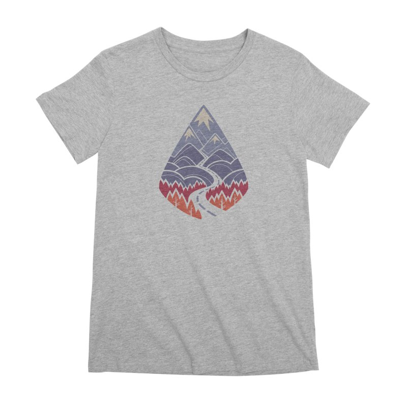 The Road Goes Ever On: Autumn Women's Premium T-Shirt by Waynem