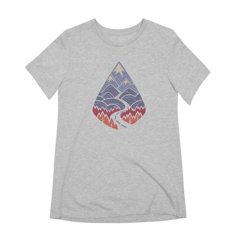 The Road Goes Ever On: Autumn Women's Extra Soft T-Shirt by Waynem