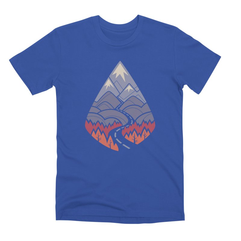 The Road Goes Ever On: Autumn Men's Premium T-Shirt by Waynem