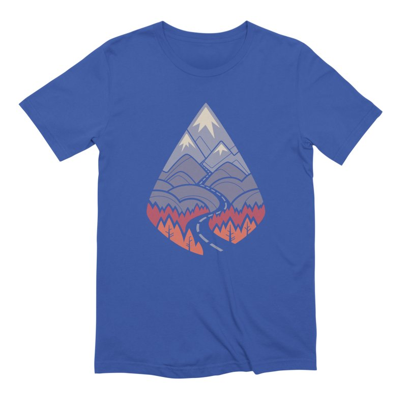 The Road Goes Ever On: Autumn Men's Extra Soft T-Shirt by Waynem