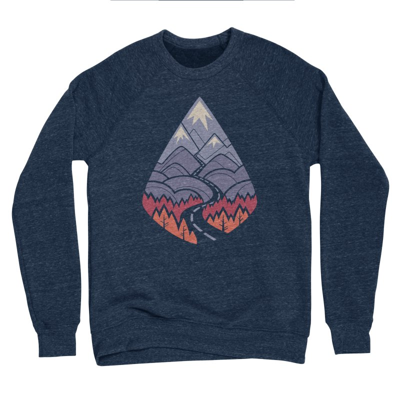 The Road Goes Ever On: Autumn Men's Sponge Fleece Sweatshirt by Waynem