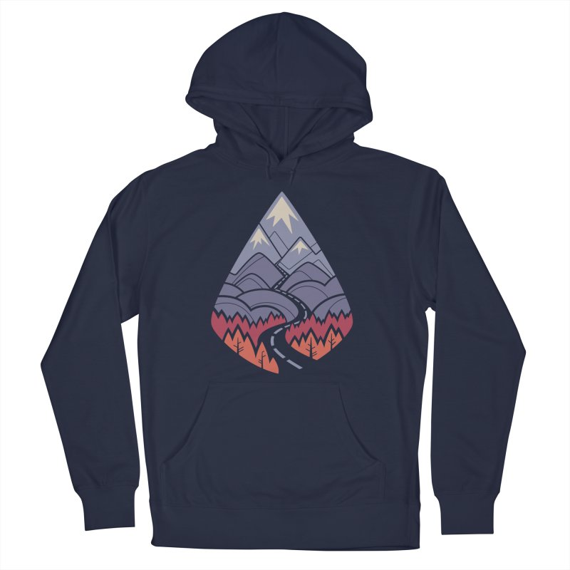 The Road Goes Ever On: Autumn Women's French Terry Pullover Hoody by Waynem