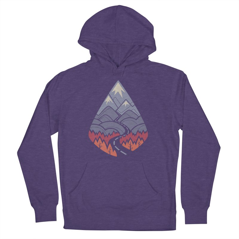 The Road Goes Ever On: Autumn Men's French Terry Pullover Hoody by Waynem
