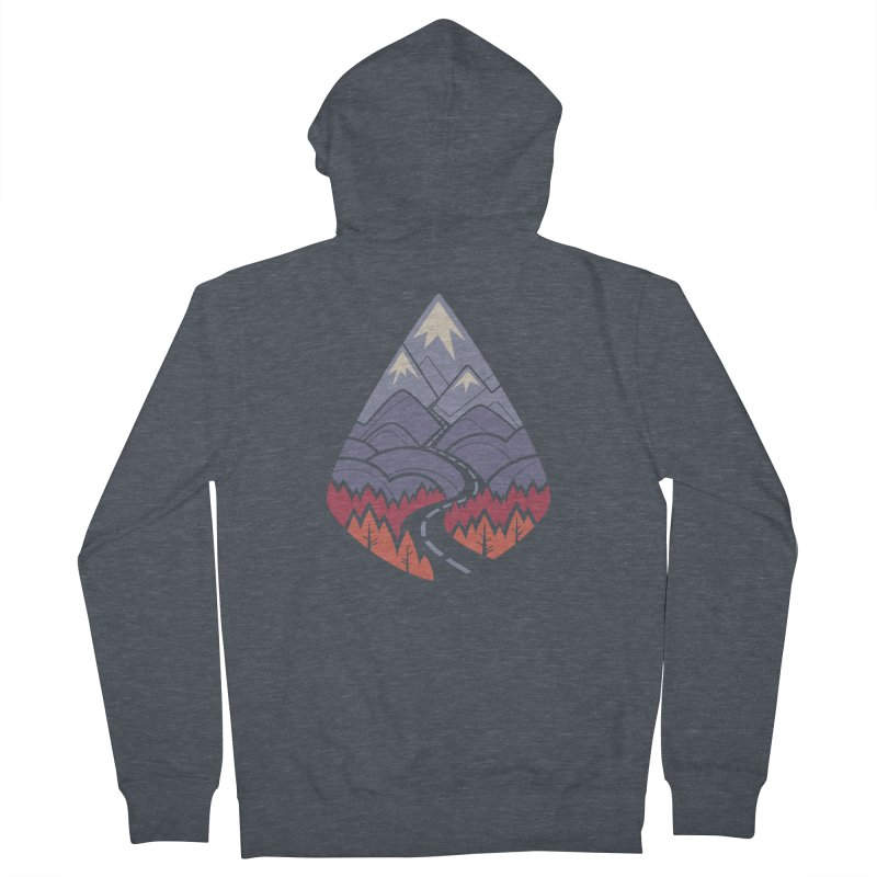 The Road Goes Ever On: Autumn Women's French Terry Zip-Up Hoody by Waynem