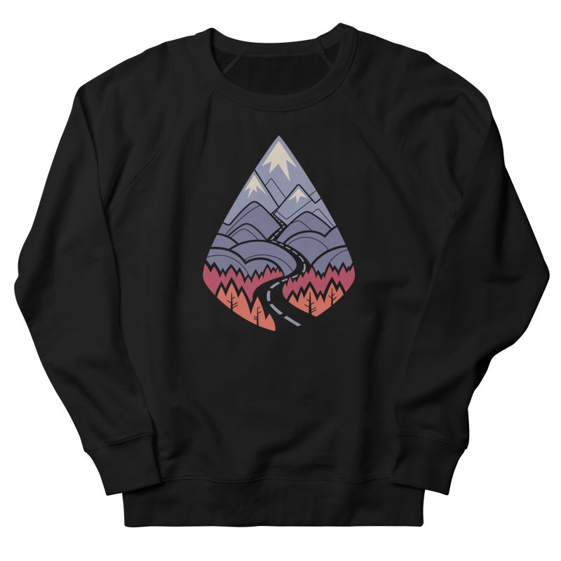 The Road Goes Ever On: Autumn Women's French Terry Sweatshirt by Waynem