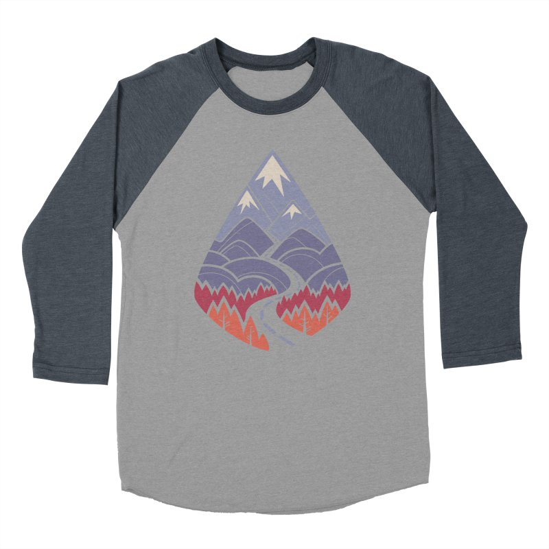 The Road Goes Ever On: Autumn Men's Baseball Triblend Longsleeve T-Shirt by Waynem
