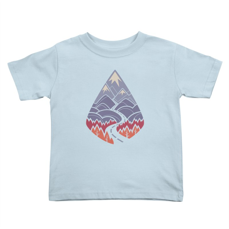 The Road Goes Ever On: Autumn Kids Toddler T-Shirt by Waynem