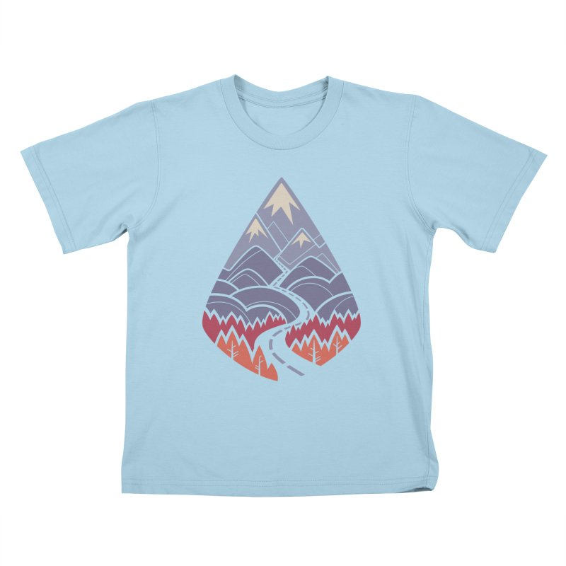 The Road Goes Ever On: Autumn Kids T-Shirt by Waynem