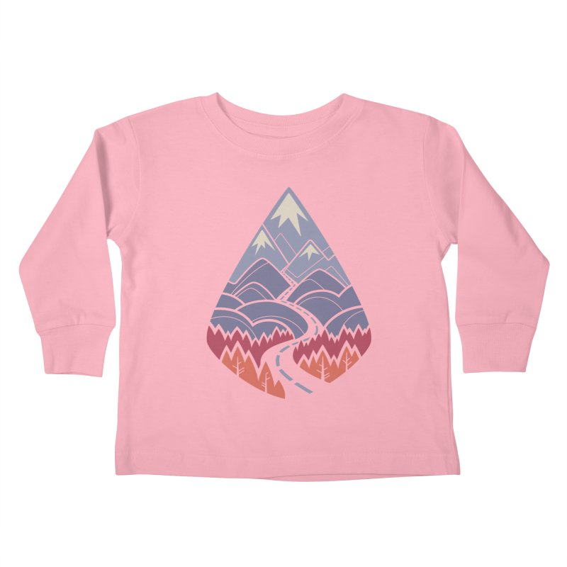 The Road Goes Ever On: Autumn Kids Toddler Longsleeve T-Shirt by Waynem