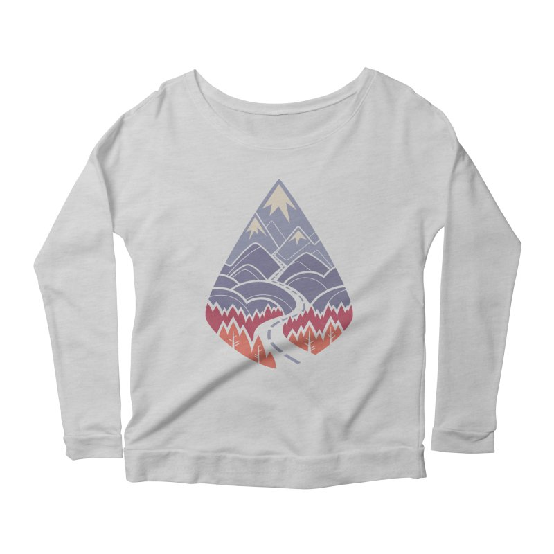 The Road Goes Ever On: Autumn Women's Scoop Neck Longsleeve T-Shirt by Waynem