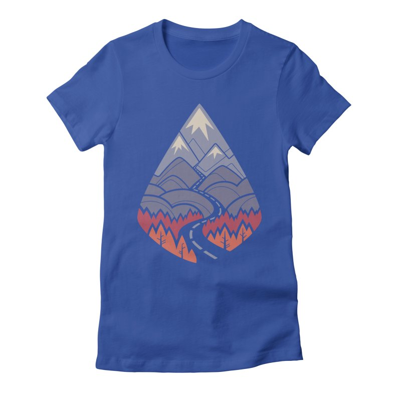 The Road Goes Ever On: Autumn Women's Fitted T-Shirt by Waynem
