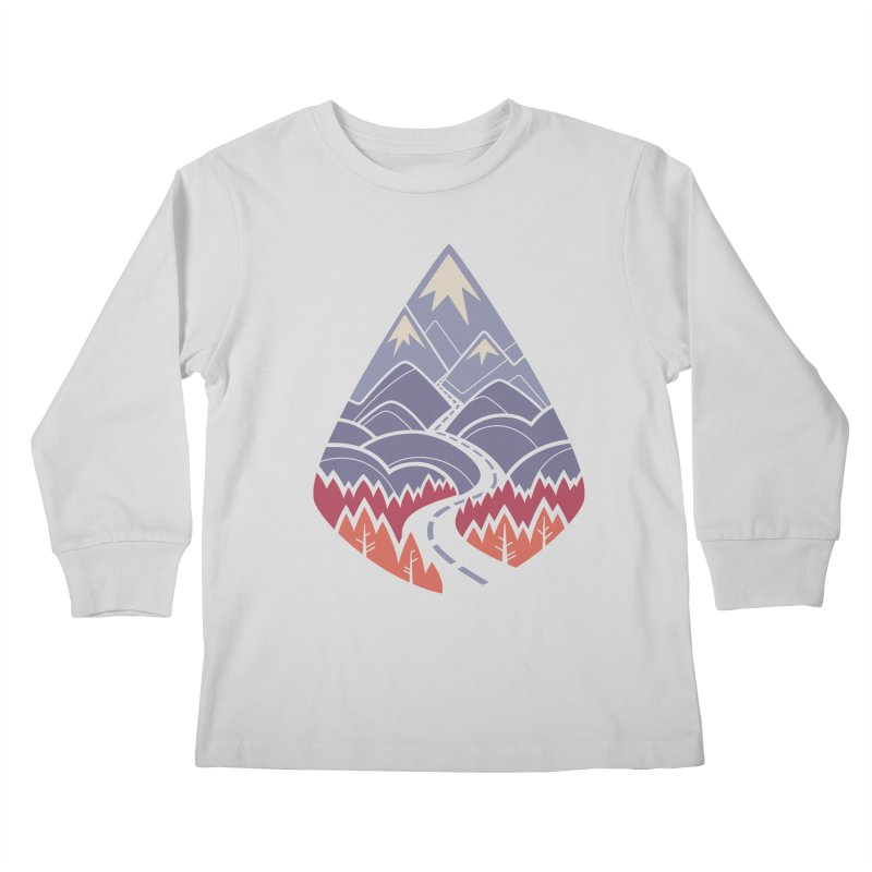 The Road Goes Ever On: Autumn Kids Longsleeve T-Shirt by Waynem