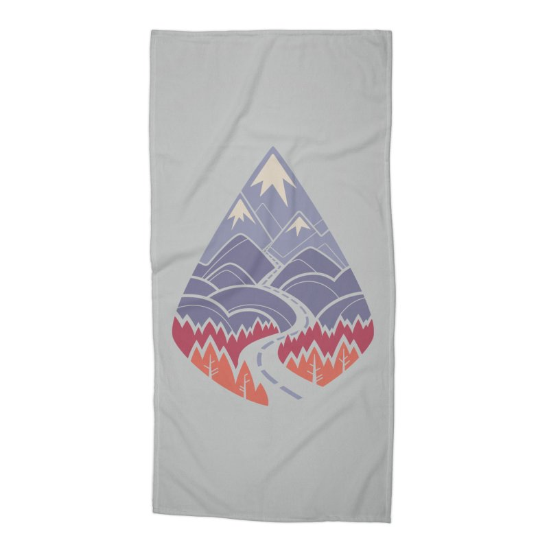 The Road Goes Ever On: Autumn Accessories Beach Towel by Waynem