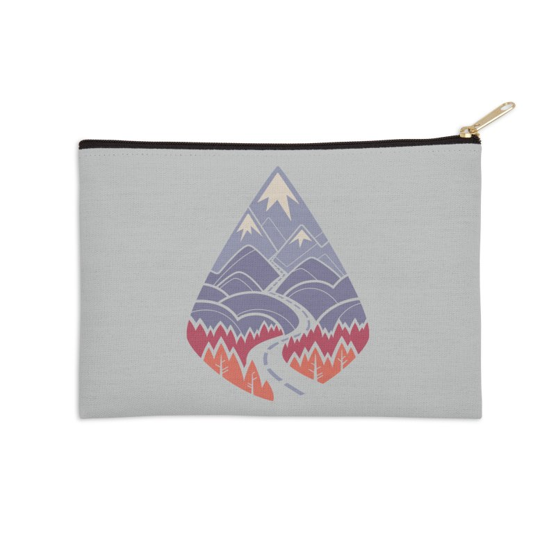 The Road Goes Ever On: Autumn Accessories Zip Pouch by Waynem