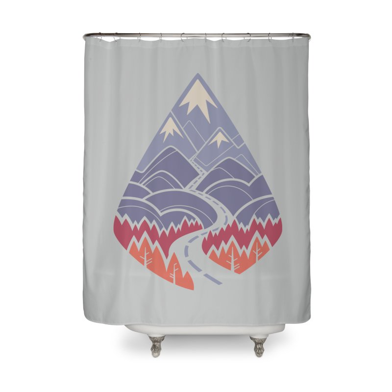 The Road Goes Ever On: Autumn Home Shower Curtain by Waynem