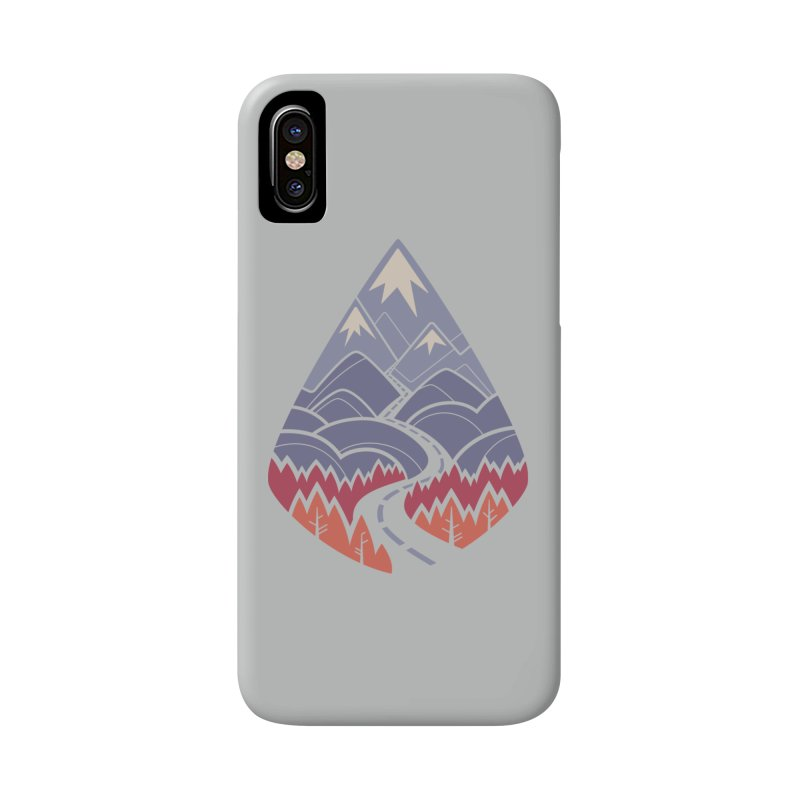 The Road Goes Ever On: Autumn Accessories Phone Case by Waynem