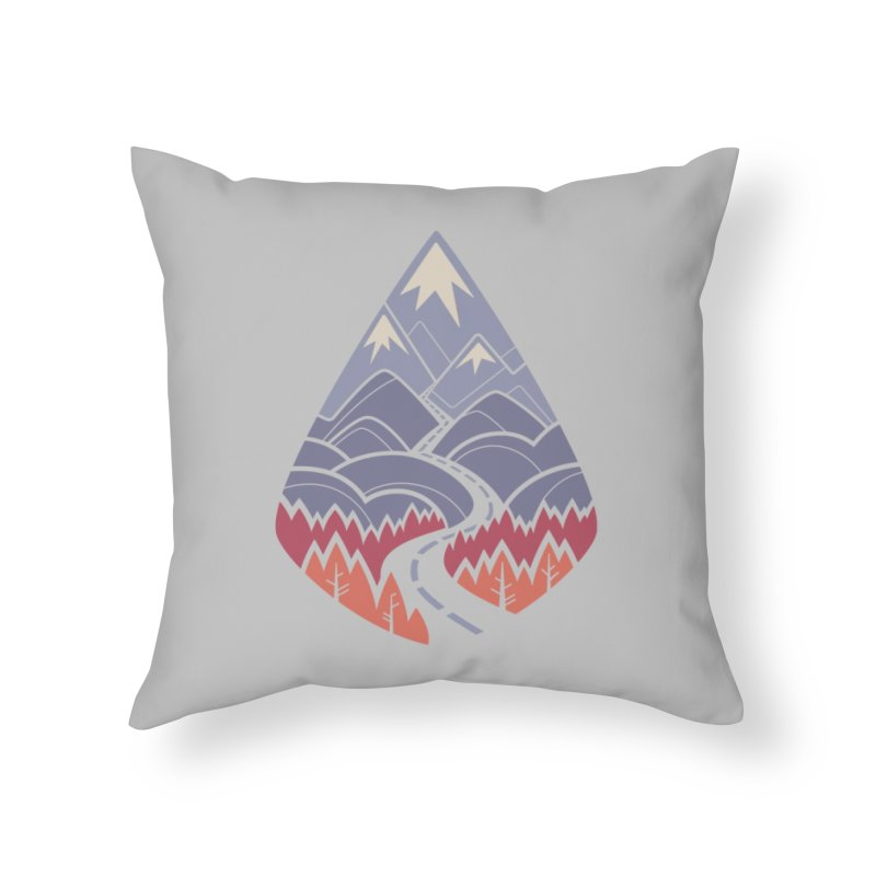 The Road Goes Ever On: Autumn Home Throw Pillow by Waynem