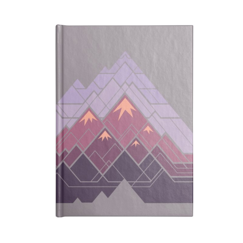 Geometric Mountains: Sunset Accessories Notebook by Waynem